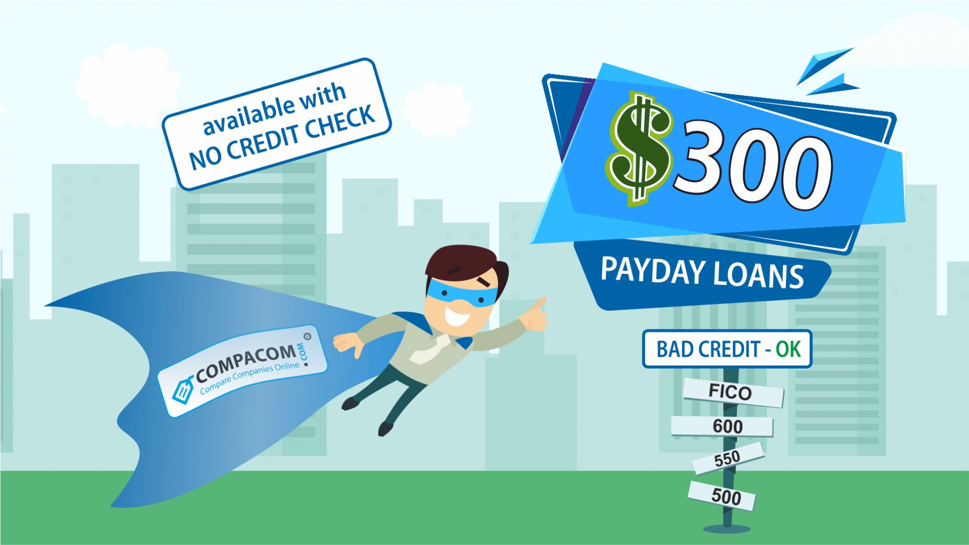 $300 dollar Payday loans are short-term unsecured cash advances available for people with bad credit. One can get approved for a $300 Loan online or in a store woth no credit check done.