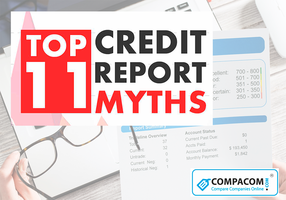 11 Myths on Credit report, Credit score, Credit check debunked