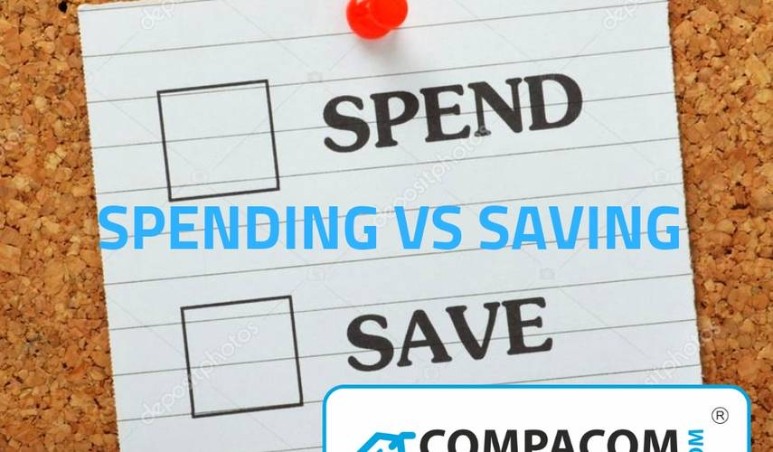 Everybody thinks that the most important factor of growing prosperity is your savings rate. But it's also the expenditure which matters and maybe counts even more.