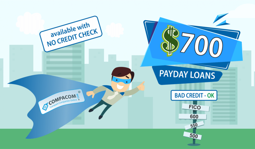Fast and easy $100 - $700 unsecured Payday Loans the same or next business day.