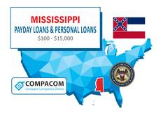 Payday Loans in Mississippi - Cash Advance for Bad Credit with NO Credit Check | COMPACOM – Compare Companies Online