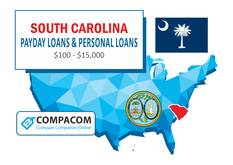 South Carolina Personal Loans up to $35,000 Online