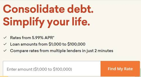 credible debt consolidating loans