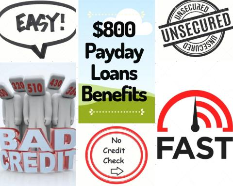 How to get a $800 dollar Payday Loan today online or in-store