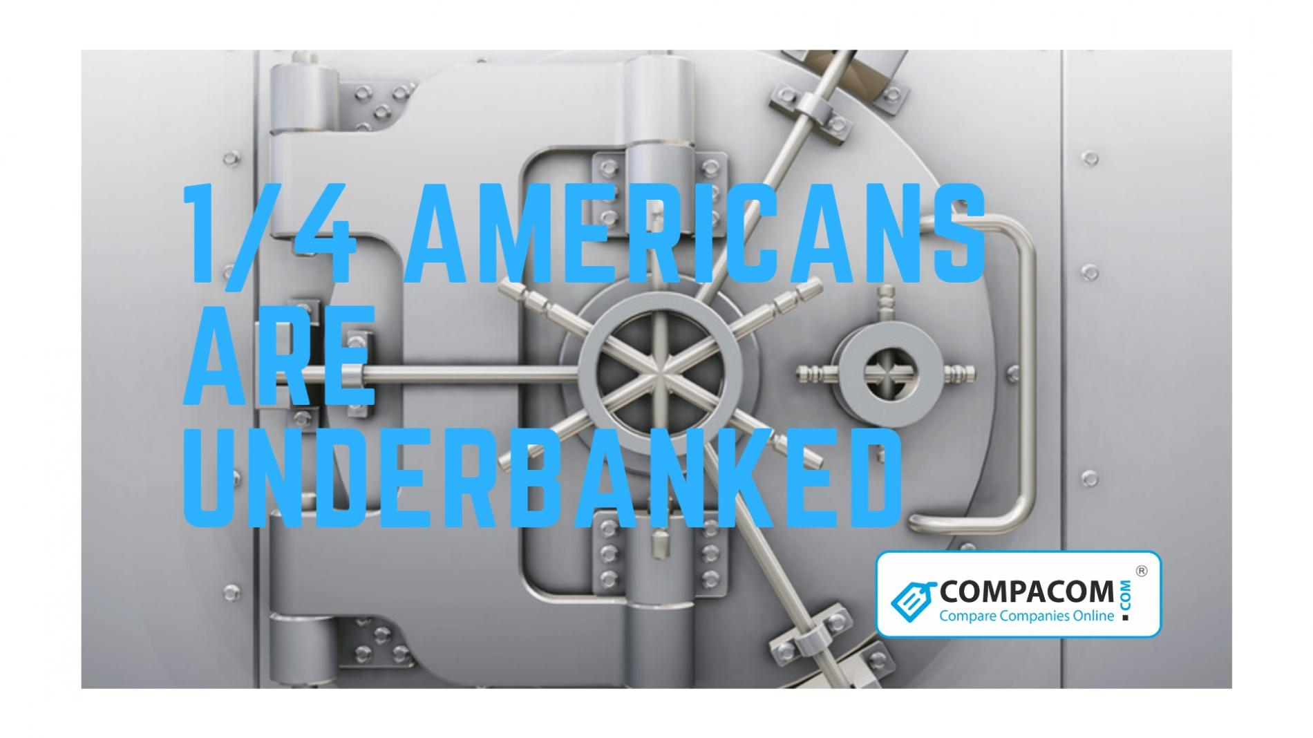 One out of four Americans is underbanked