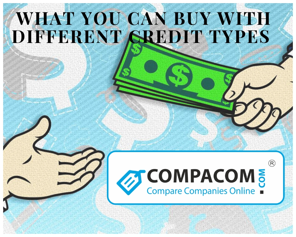 Diffreent loan types and things you can buy on each of them.